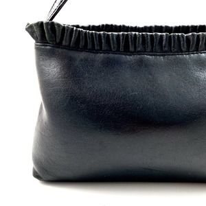 Vintage 90's COLETTA black leather ruffle purse